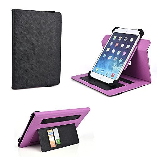 Thoughtful Shopper (Protective Slim Fit Case with Roatating Multi Angle Stand and Credit card inserts (Violet Volt) Insignia Flex 8,Verizon Ellipsis 8,iRULU 8)