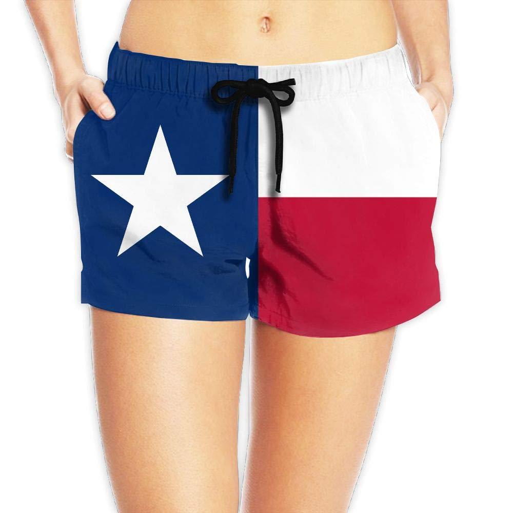 Alphary Texas Flag Women's Board Shorts Beach Shorts Swim Trunks Hawaiian Shorts