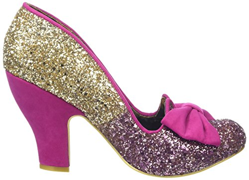 Irregular Choice Nick Of Time - Tacones Mujer Pink (Pink/Gold)