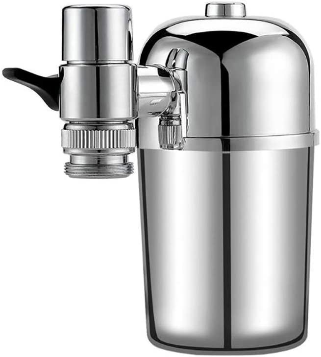 Purificador De Filtro De Agua Purificación Filtro Rotatorio A Prueba De Salpicaduras Filtro Ionizador Alcalino Cocina Casera De 360 Grados (Plata): Amazon.es: Hogar