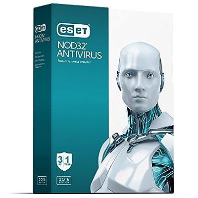 ESET NOD 32 AntiVirus | 2016 (3 PC's- 1 Year) No CD- Only key via email