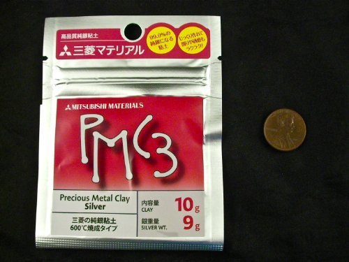Mitsubishi PMC3 Precious Metal Clay Silver 10 (Pmc3 Silver Clay)