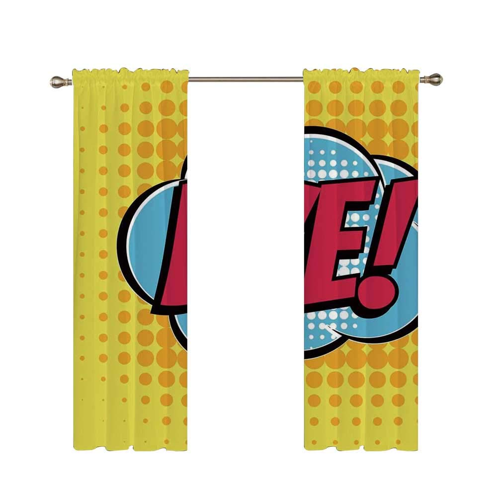 C COABALLA Letter C Utility Shading Rod Curtain,Letter C Flaming Backdrop Combusted Alphabet Symbol Paper Effect Writing for Home,85.8'' W x 64.5'' H