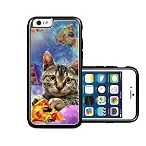 RCGrafix Brand Shawnex-SpringInk-Hipster-Galaxy-Cat-Holding-Pizza-Slice iPhone 6 Case - Fits NEW Apple iPhone 6