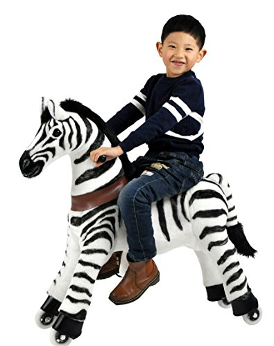 Mechanical Riding Zebra Toy Simulated Horse Riding on Toy Ride-on Toys :More Comfortable Riding with Gallop Motion for Kids 3-6 Years by Gidygo