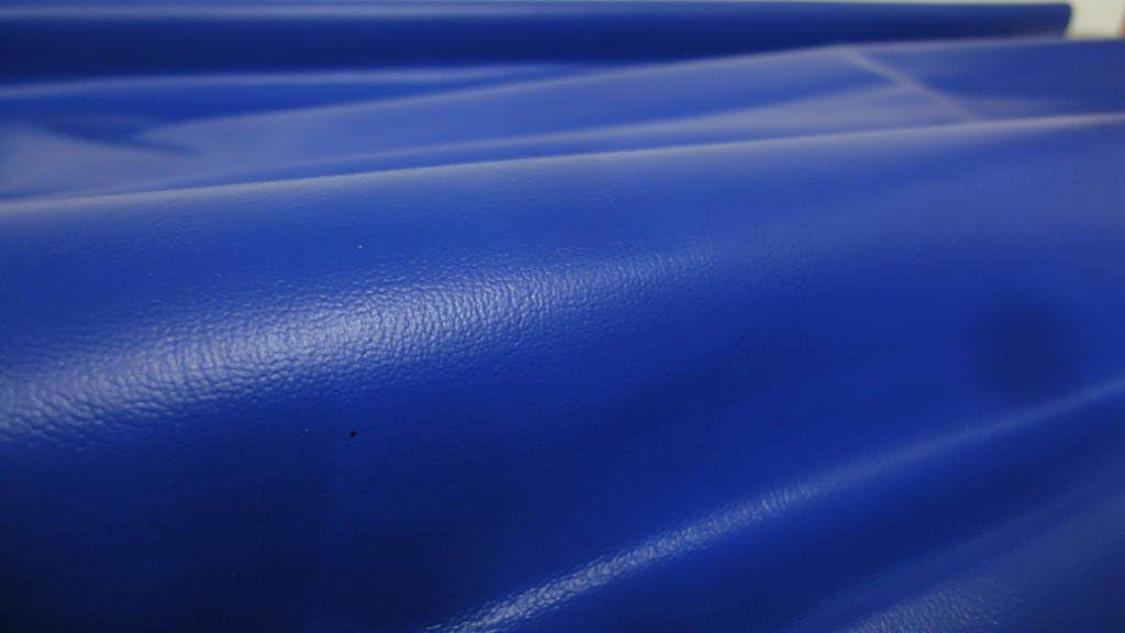 C548 Stoffbook Tissu Cuir synth/étique PVC Simili Cuir Bleu Royal
