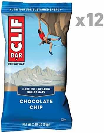 CLIF BAR - Energy Bar - Chocolate Chip - (2.4 Ounce Protein Bar, 12 Count)