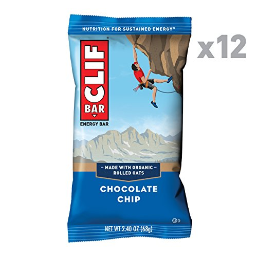 CLIF BAR - Energy Bar - Chocolate Chip - (2.4 Ounce Protein Bar, 12 Count) ()