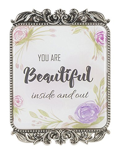 Ganz Home Decor Love & Blessings 2.75 inch Mini Motivational Message Magnet/Plaque ~ Blooming Lovely Series (You are Beautiful Inside & Out)