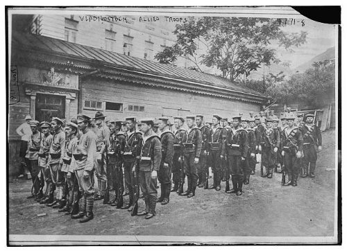 Photo  Vladivostock Vladisvostok Allied Troops Soldiers Uniforms Bain News Service
