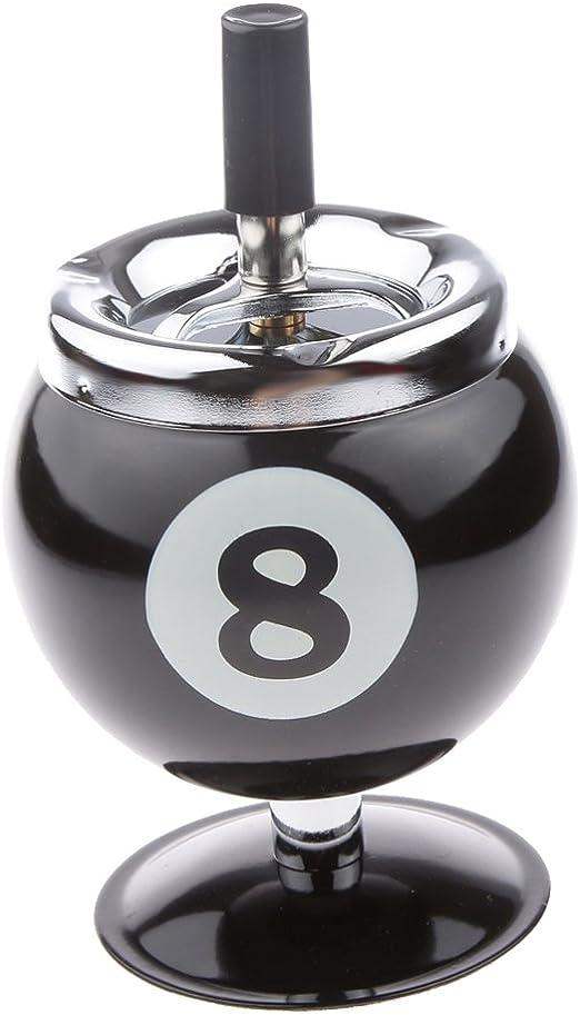 Cendrier à Bouton-poussoir Boule de Billard Hermétique Pour Fans de Billard