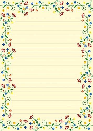 1 Schreibblock Blütenzauber Vintage 25 Blatt Format DIN A4 mit Deckblatt 7220