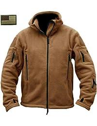 Men's Warm Military Tactical Sport Fleece Hoodie Jacket