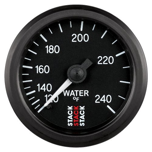 Stack ST3108 Black 52mm 1//2 NPT 120-240/°F Mechanical Water Temperature Gauge