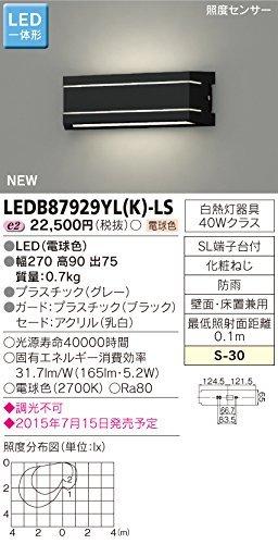 東芝ライテック LED一体形アウトドアブラケット 照度センサー付表札灯 ブラック 270×90 B00ZZ4BJLU 11868