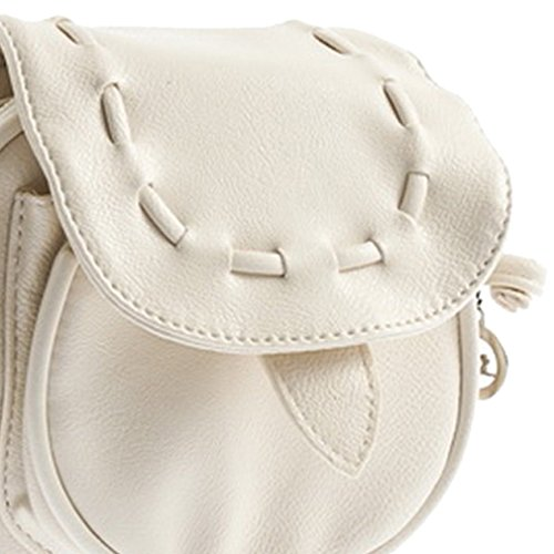 Lovely Satchel Adjustable Bag pc Handbag Girl 1 Backpack Beige Leather Mini Shoulder Rcdxing REwPqn