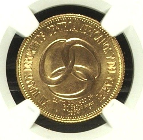 1974 DM Dominican Republic 1974 Gold 30 Pesos 12th Centra coin MS 67 NGC (Coins Republic Dominican)