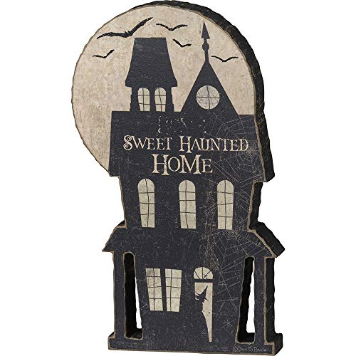 (Primitives by Kathy Halloween Cut Out Chunky Sitter - Home Sweet Haunted Home - Black)