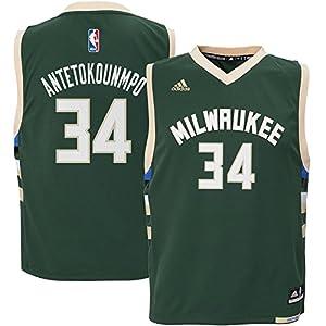 adidas Giannis Antetokounmpo Milwaukee Bucks Toddler Green Road Replica Jersey