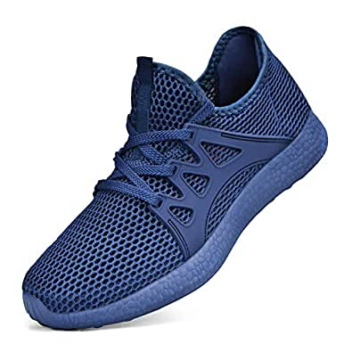 Simasoo Mens Shoes Ultra Lightweight Running Shoes Breathable Walking Gym Sneakers Blue Size: 4.5