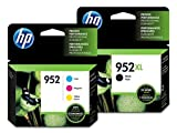 952XL High Yield Black And Standard 952 Cyan/Magenta/Yellow Ink Cartridges, Pack Of 4