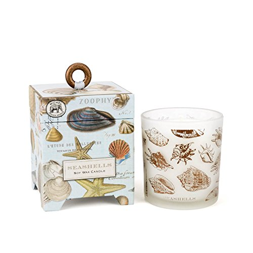 Michel Design Works Gift Boxed Soy Wax Candle, 6.5-Ounce, Seashells