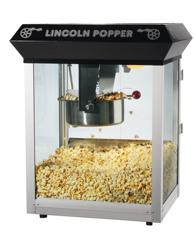 Great Northern Popcorn Black Bar Style Lincoln 8 Ounce Antique Popcorn Machine (Bar Style) by Great Northern Popcorn Company (Image #1)