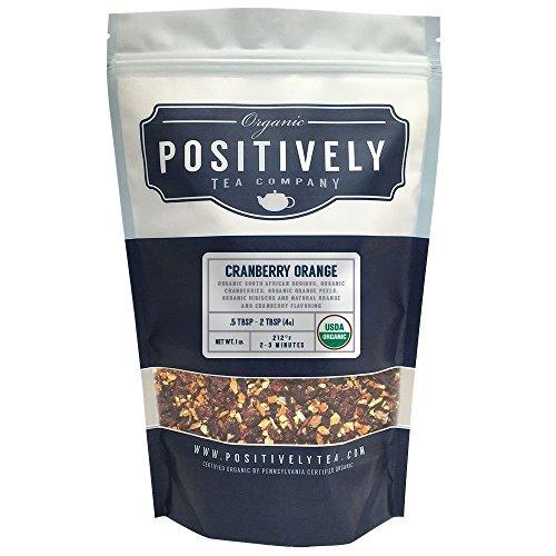 Positively Tea Company, Organic Cranberry Orange Rooibos, Rooibos Tea, Loose Leaf, USDA Organic, 1 Pound Bag