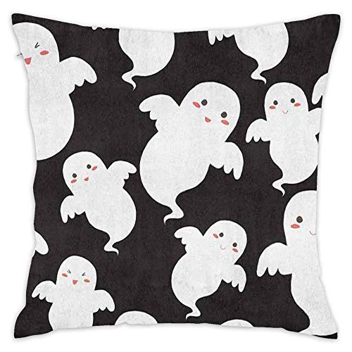Hsdfnmnsv Cute Ghost Halloween Decorative Throw Pillow Covers Cushion Cases for Couch Sofa Bed Living Room Pretty Modern -