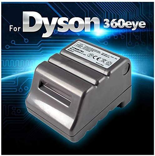 Batería para aspiradora Dyson 360eye 360 Eye RB01 de 14,8 V, 6600 ...