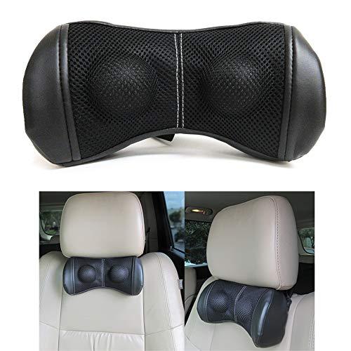 Car Head Seat Pillow Travel Cushion Headrest Relieve Neck Pain Adjustable Straps