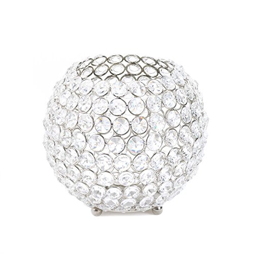 Silver Shimmer Globe Candle Cup Set of 2