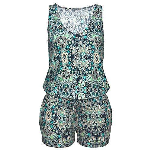 Clubwear Multicolore Combinaison Fête Combishort Imprimé Amlaiworld Femmes Body De Sans Manches Vest Uq7Hf