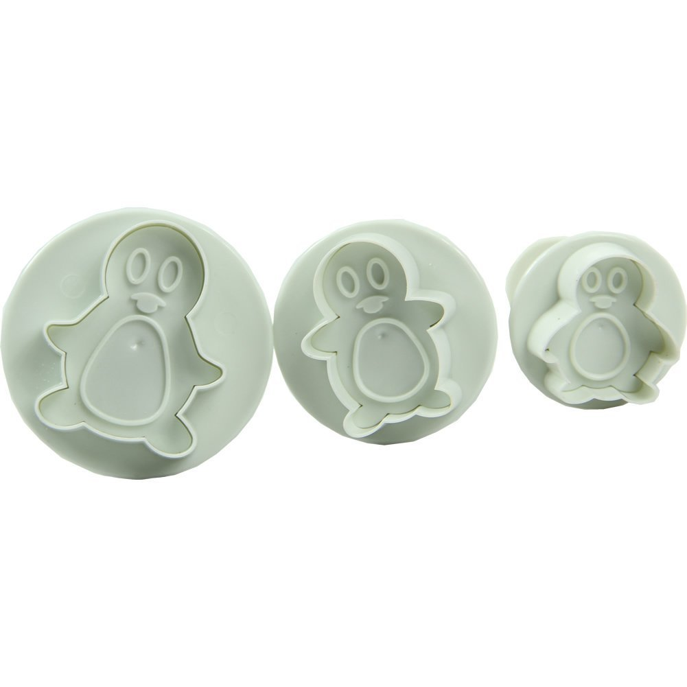 Estone 3X Penguin Shape Cake Cookie Biscuit Fondant Sugarcraft Cutter Plunger Mold Tool HeroNeo®