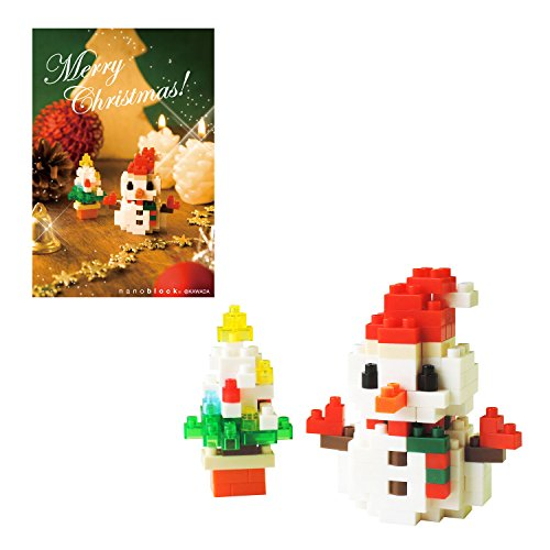 Nano block Christmas card snowman A NP062