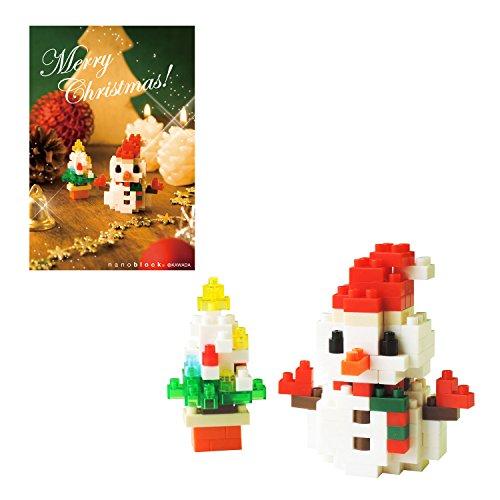 Nano block Christmas card snowman A NP062