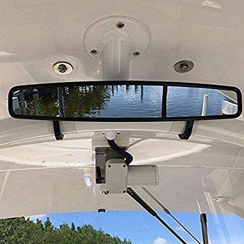 Liseng 16.5 Inch Wide Rear View Race Mirror Convex Mirror with 1.75-2 Inch Clamp for ATV UTV,Polaris,