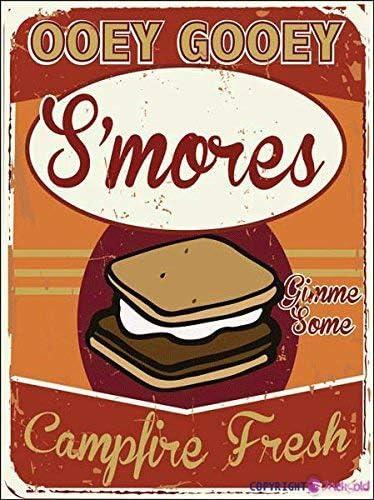 MDME Eletina Smores Bar Decor S Mores Metal Sign Ooey Gooey Autumn Thanksgiving Decor Fall Boire Marshmallow Roastsmore Love Sign