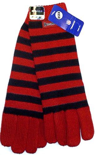 Reebok Football Glove - Tampa Bay Buccaneers Women's Striped Knit Gloves By Reebok - Osfa