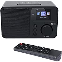Ocean Digital Internet Radio WR233 WiFi Wlan Wireless Connection Desktop DLNA streaming Colour Display- Black