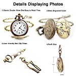 BOSHIYA Men's Pocket Watch Perfect Anniversary Gift Classic Vintage Quartz Watch Animal Deer Pocket Watch Accessories 13