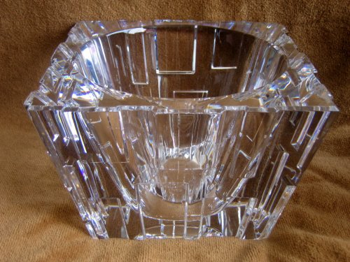 Orrefors Sweden Crystal AVENUE Centerpiece BOWL by Martti Rytkonen (Stickers & Etching)