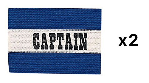 Champion Sports Youth Soccer Captains ARM Band Redblue Blue CYP-BLU (2-Pack) ()