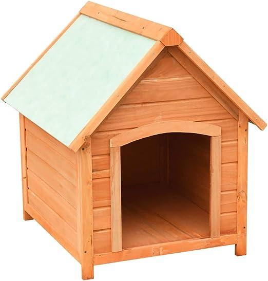 Nishore Casas de Perros para Jardín Madera Maciza de Pino y Abeto ...