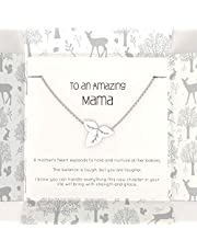 Nested Fox Mom Bracelet - Mom to Be Gifts with Inspirational Words - Baby Shower or Pregnancy Gifts for Mom Expecting Twins, Subsequent Births, or for New Mama - Designed by a Canadian Mom
