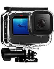 TELESIN Waterproof Case Accessories Kit for GoPro Hero 10/9 Black Underwater Diving Cover,with Waterproof Housing Case + 3 Red Filters + 6PCS Anti-Fog Insert Diving Accessory (Only Waterproof case)