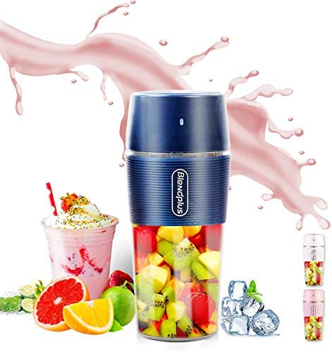 ARTSUN Portable Blender Mini Blender USB Rechargeable Small Blender Personal Cup Juicer Waterproof,10.5oz BLUE