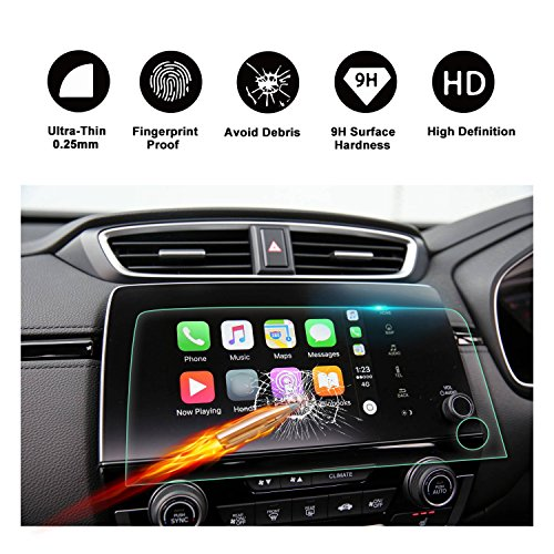 Special for 2017 2018 Honda CRV RIGHT HAND DRIVE Trapezoid Tempered Glass Protector for Special CRV Navigation Screen Display Lx Ex Ex-l Touring NOT FOR US VERSION (R 7-Inch)