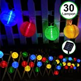 Solar Fairy Lights Outdoor-Bawoo Waterproof 30 LED Chinese Lantern Solar String Lights- Christmas Lighting Solar Powered for Garden, Patio, Yard, Home, Tree,Halloween Party(Multicolor)