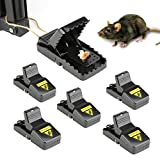 exreizst 6pcs Mouse/Rats Trap, Rats/Mice Trap That Work Humane Power Rodent Killer Mouse Catcher [Quick & Effective & Sanitary] Safe for Families and Pet